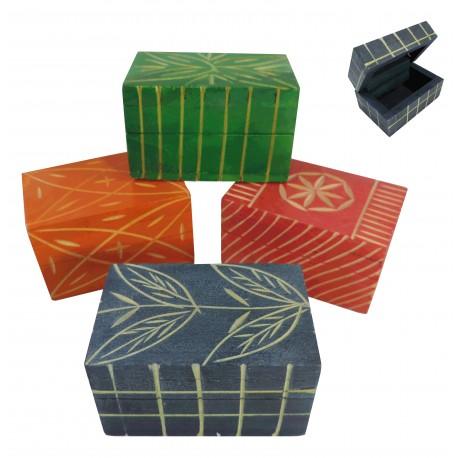 Caja Madera Pequeña Tallada 4 Mod