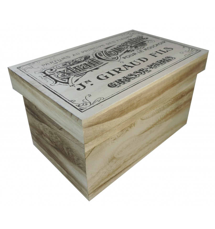 Caja mediana rectangular con tapa for Caja madera con tapa