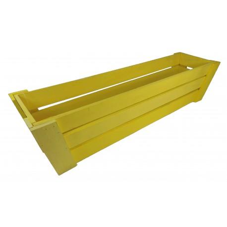 Jardinera Madera larga Amarilla