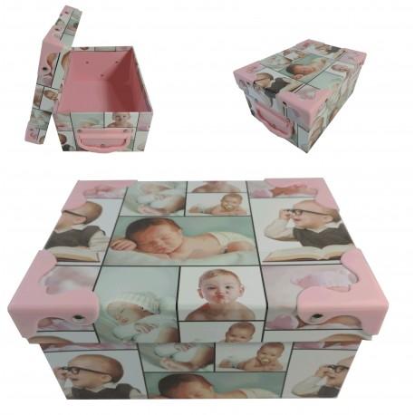 Caja Cartón Bebes Rectangular