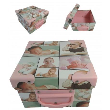 Caja Cartón Bebes Cuadrada