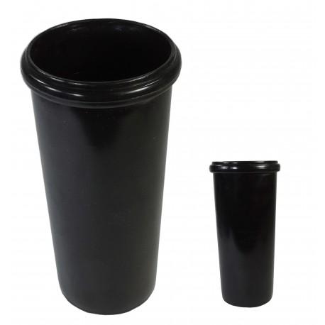 Deposito Vaso Cilindro Negro D-35