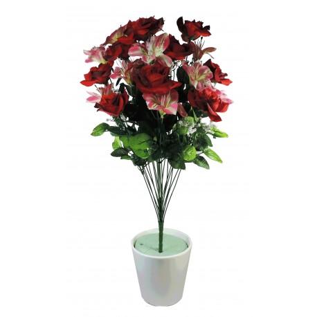 Ramo Rosas / Astromelias x22 Rojo