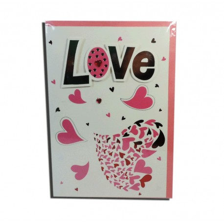 "Tarjeta ""Love"" Corazon"