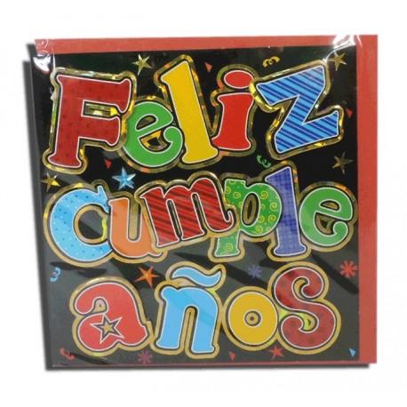 "Tarjeta Cuadrada ""Feliz Cumpleaños"""