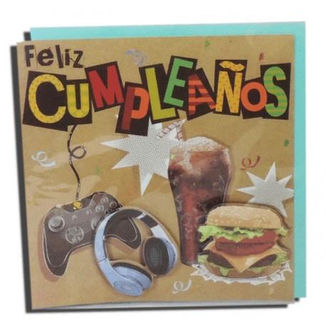 "Tarjeta ""Feliz Cumpleaños"" Videojuego"