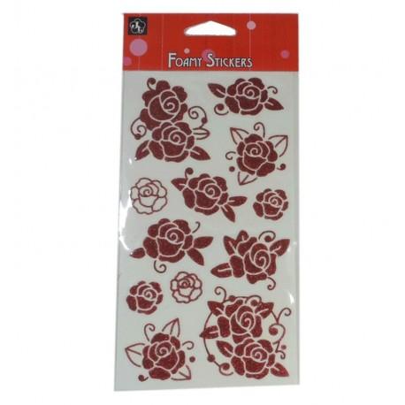 Sticker Flores y Rosas Rojas