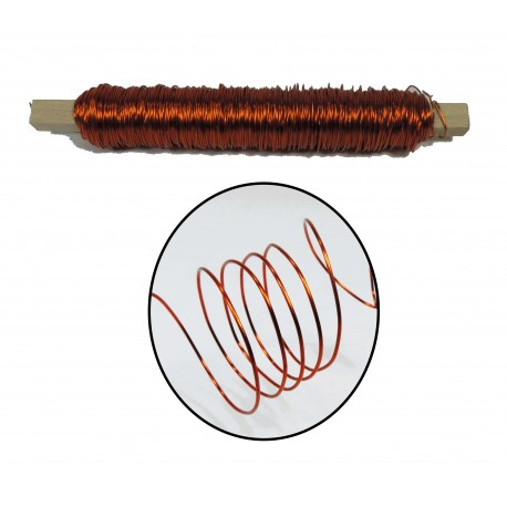 Rollo Alambre 0.5 mm Naranja
