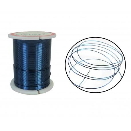 Bobina Hilo Alambre Azul 0,32mm