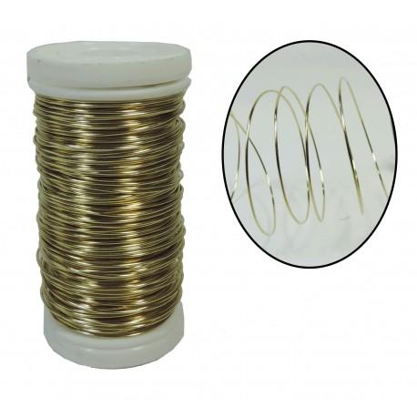 Alambre Metalico 0,5 mm Oro