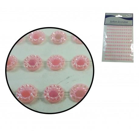 Sticker Gema Rosa 6mm 135 ud