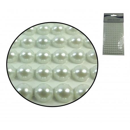 Sticker Media Perla 8mm Blanca