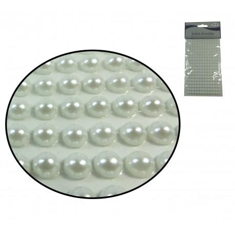 Sticker Media Perla 6mm Blanca