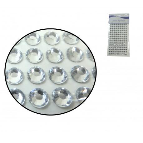 Sticker Medio diamante 8mm Plata