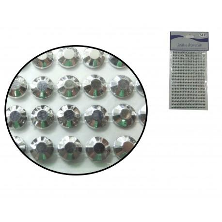 Sticker Medio diamante 6mm Plata