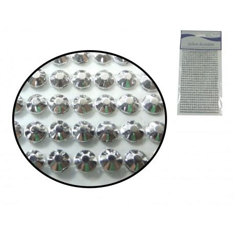 Sticker Medio diamante 4mm Plata