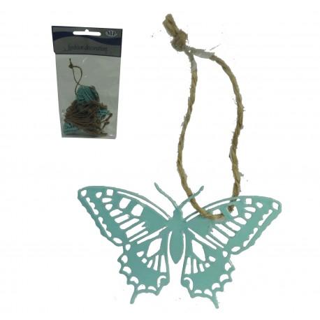 Mariposa Metal Colgante Menta