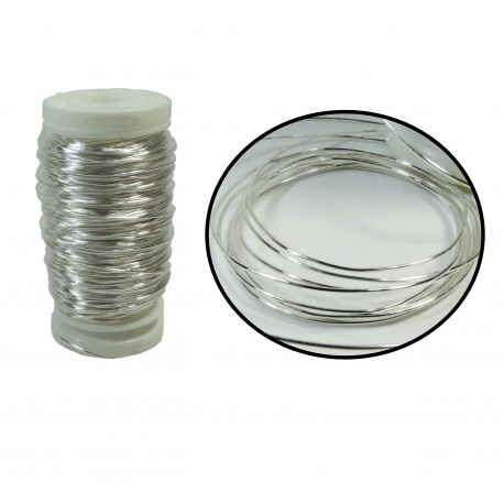 Alambre Metalico 0,5mm Plata