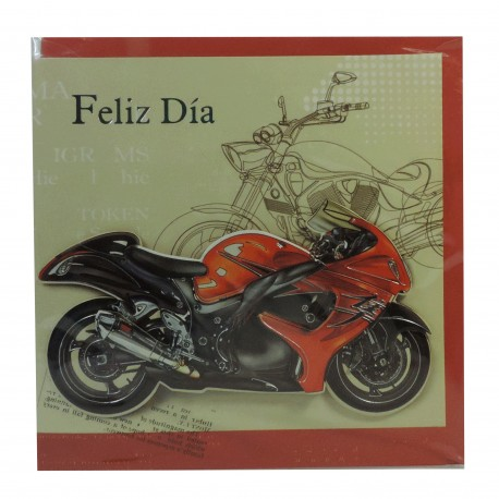 "Tarjeta Feliz día ""Moto"""