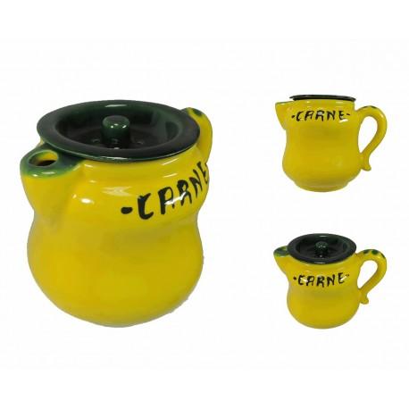 Jarra Carne Amarillo Ceramica
