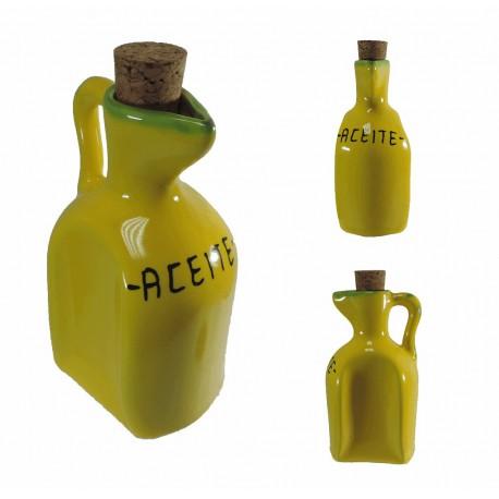 Aceitero Amarillo Ceramica 33 cl