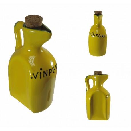 Vinagrero Amarillo Ceramica 33 cl