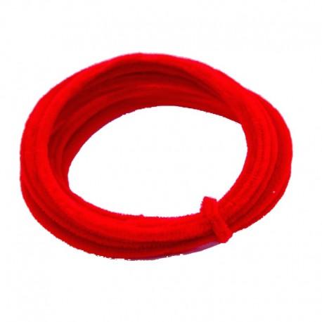 Chenilla Alambrada 5mts Rojo