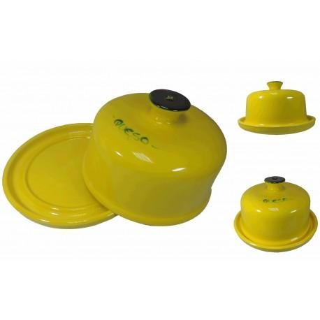 Quesera Grande Amarillo Ceramica