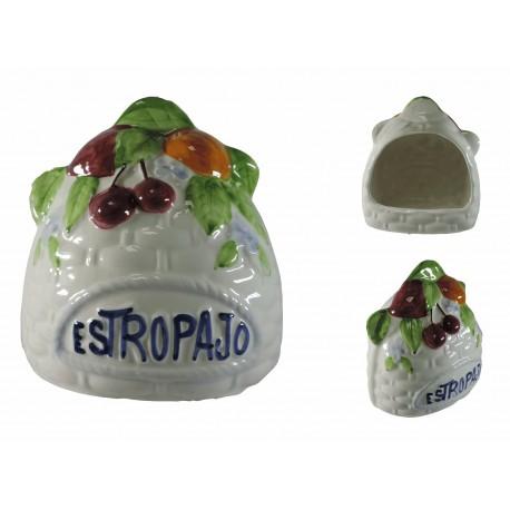 Estropajero Blanco Ceramica