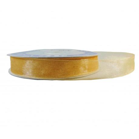 Cinta Organza Brillante Oro 15mm
