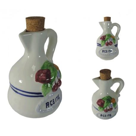 Aceitero Blanco Ceramica
