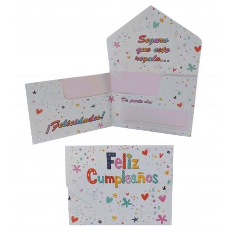 Billetero cumpleaños Corazones