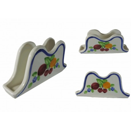 Servilletero Blanco Ceramica