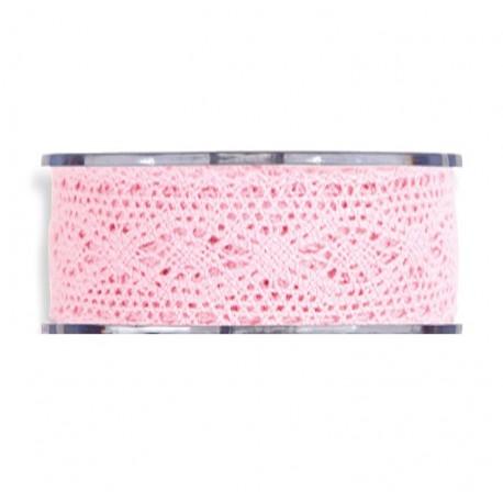 Cinta de Encaje 40mm x 8 mts rosa
