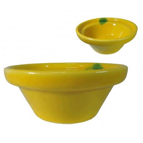 Lebrillo Amarillo Ceramica Ø11