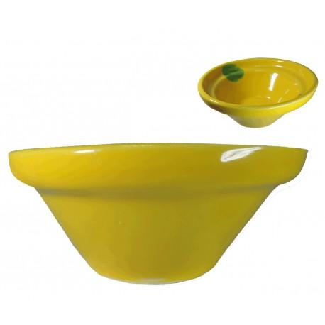 Lebrillo Amarillo Ceramica Ø18 cm