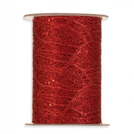 Cinta de Brillo Rojo 10cm x 10mts