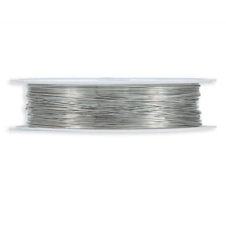 Hilo Metalico 0,3mm x 25mt Plata