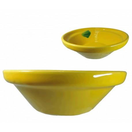 Lebrillo Amarillo Ceramica Ø22 cm
