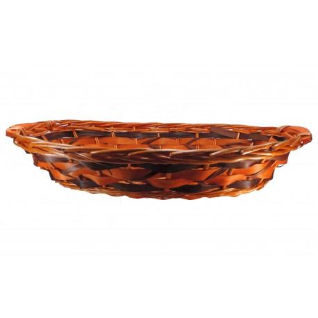 Bandeja Ovalada Grande Marron - Naranja