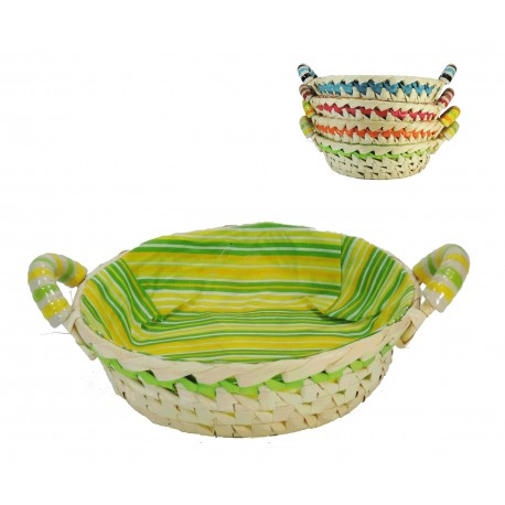 Panera Bambu Redonda Asa Ceramica 4 colores