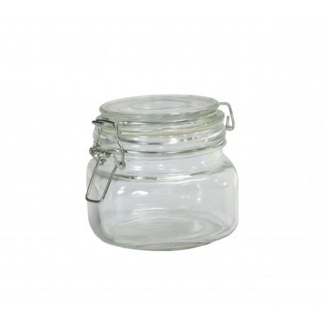 Bote Cristal Hermetico Cuadrada 400 ml