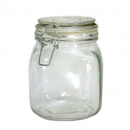 Bote Cristal Hermetico Cuadrado 650 ml