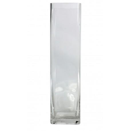 Vaso Cuadrado Cristal ↔10 x ↕40 cm