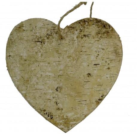 Corazón Colgante Corteza Grande