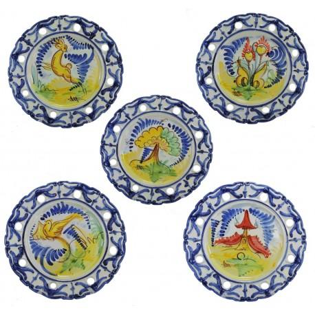Plato de Colgar Calado Ceramica Ø32 cm