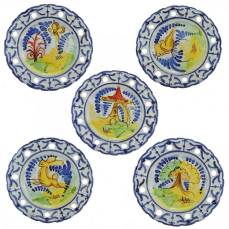 Plato de Colgar Calado Ceramica Ø24 cm