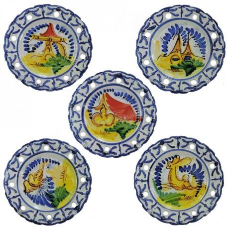 Plato de Colgar Calado Ceramica Ø20 cm