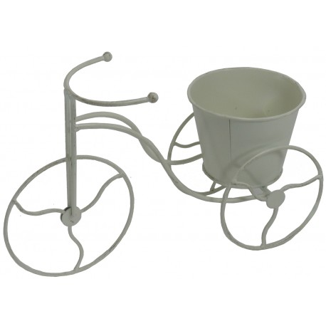 Bicicleta macetero metal blanco 32 cm - Bicicleta macetero ...
