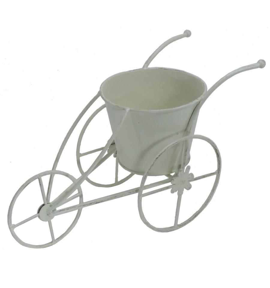 Triciclo macetero metal blanco 17 cm - Bicicleta macetero ...